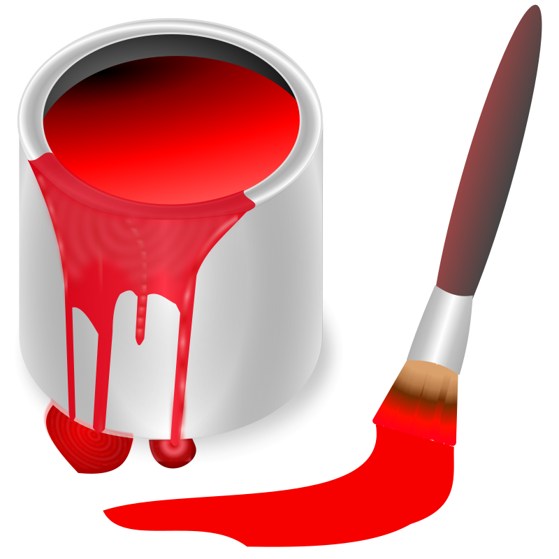 banner library stock Free color red knk. Bucket clipart coin