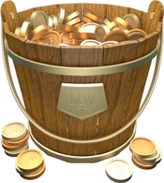 vector freeuse download Bucket clipart coin. Making the moneywell app
