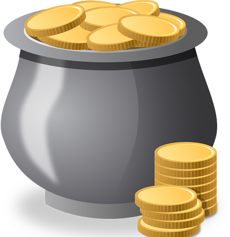 clipart freeuse stock Marcia moston a fortuitous. Bucket clipart coin