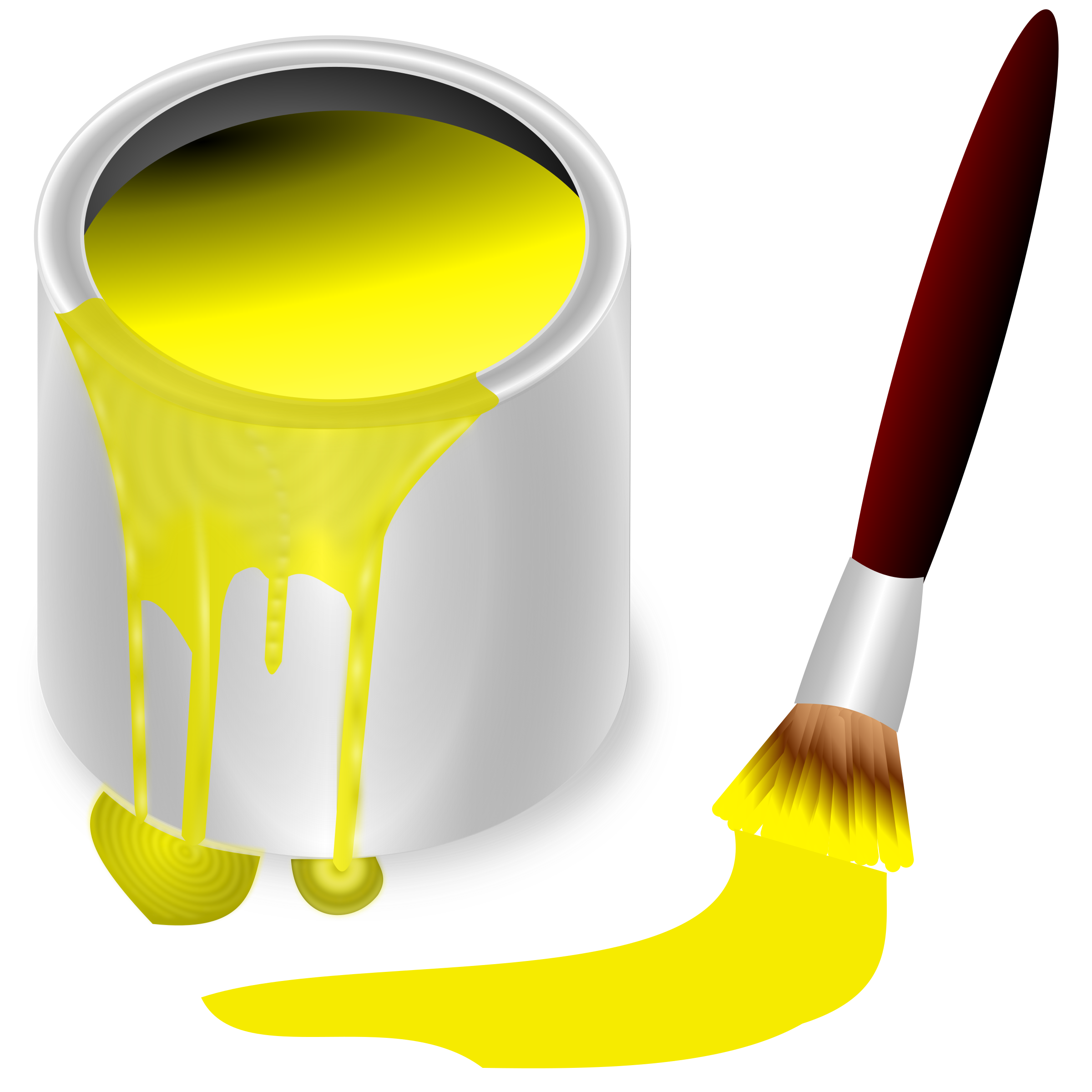 clipart library download Bucket clipart colour. Color yellow big image