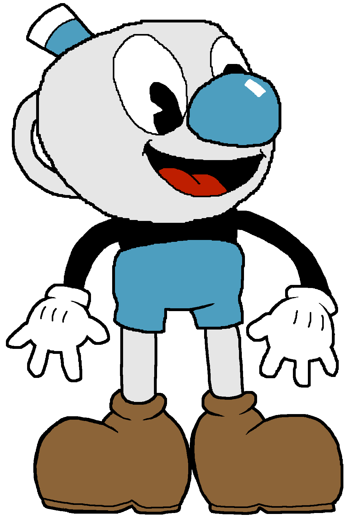 graphic transparent Mugman by fzone on. Bucket clipart dbq.