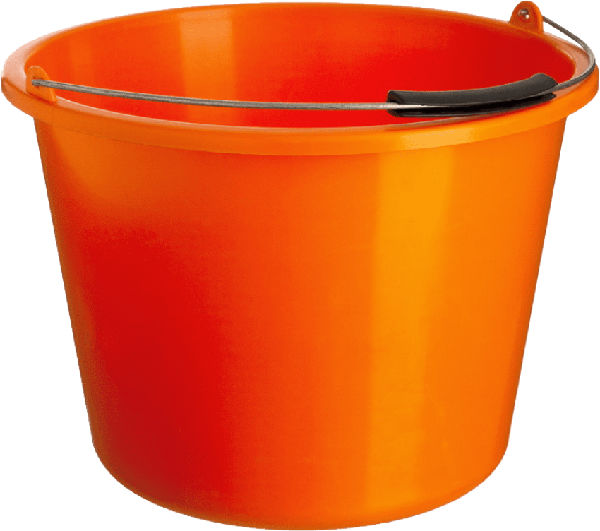 jpg royalty free library Orange plastic png free. Bucket clipart different object