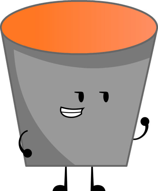 clip transparent library Image lava png survival. Bucket clipart different object