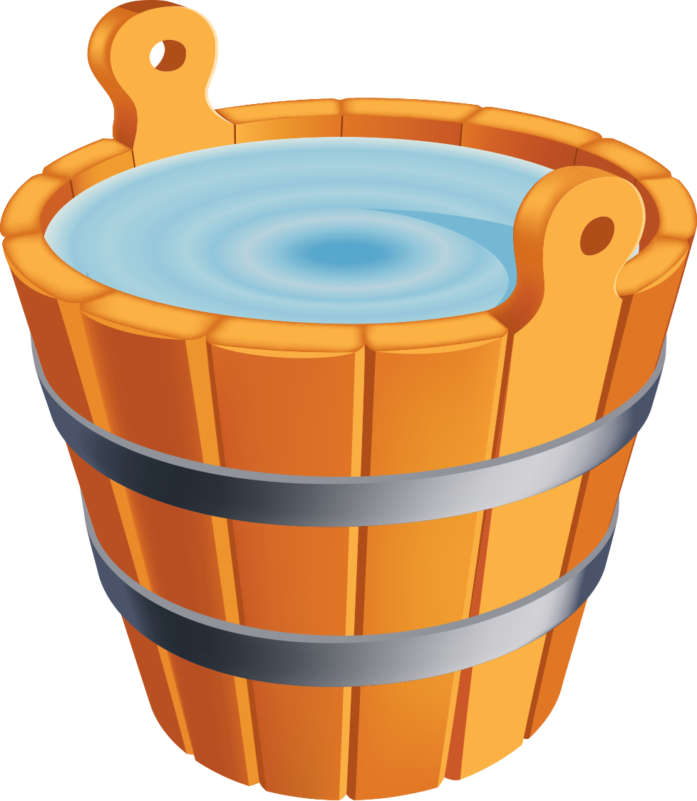 picture royalty free library Bucket clipart filled. Water free on dumielauxepices