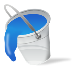graphic royalty free stock Bucket clipart filled. Fill blue paint color