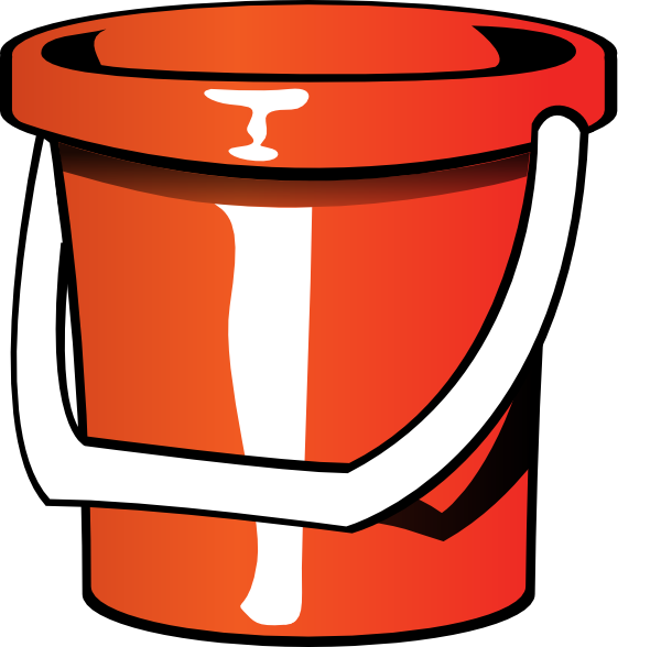clip art free library Rock and roll pail. Bucket clipart filled