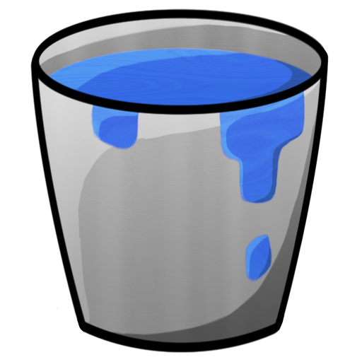picture royalty free library Water free on dumielauxepices. Bucket clipart filled