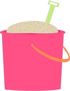 vector transparent Bucket clipart filled. Beach sand pail with