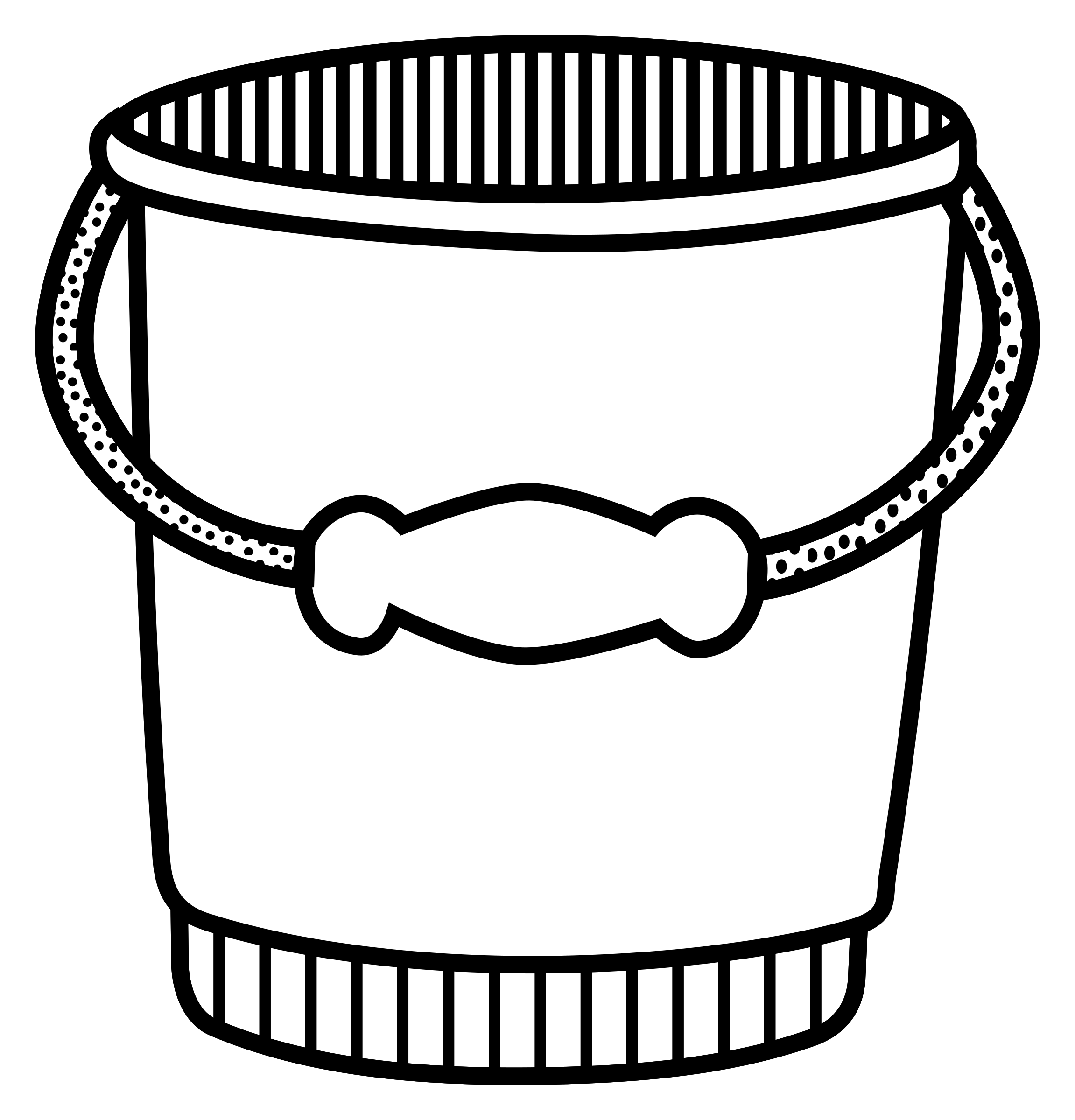 clip freeuse Bucket clipart ice cream bucket. T shirt drawing clip.