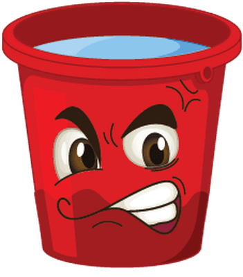 picture transparent stock Buckets with faces the. Bucket clipart red bucket