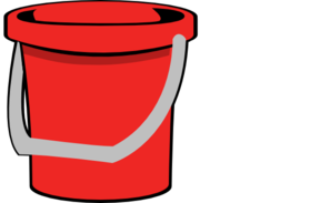 clip art black and white Bucket clipart red bucket. Clip art at clker