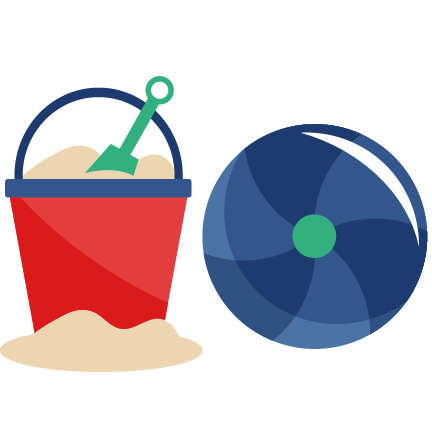 image transparent Beach pail and ball. Bucket clipart svg