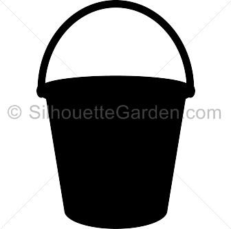 png transparent Silhouette clip art down. Bucket clipart svg