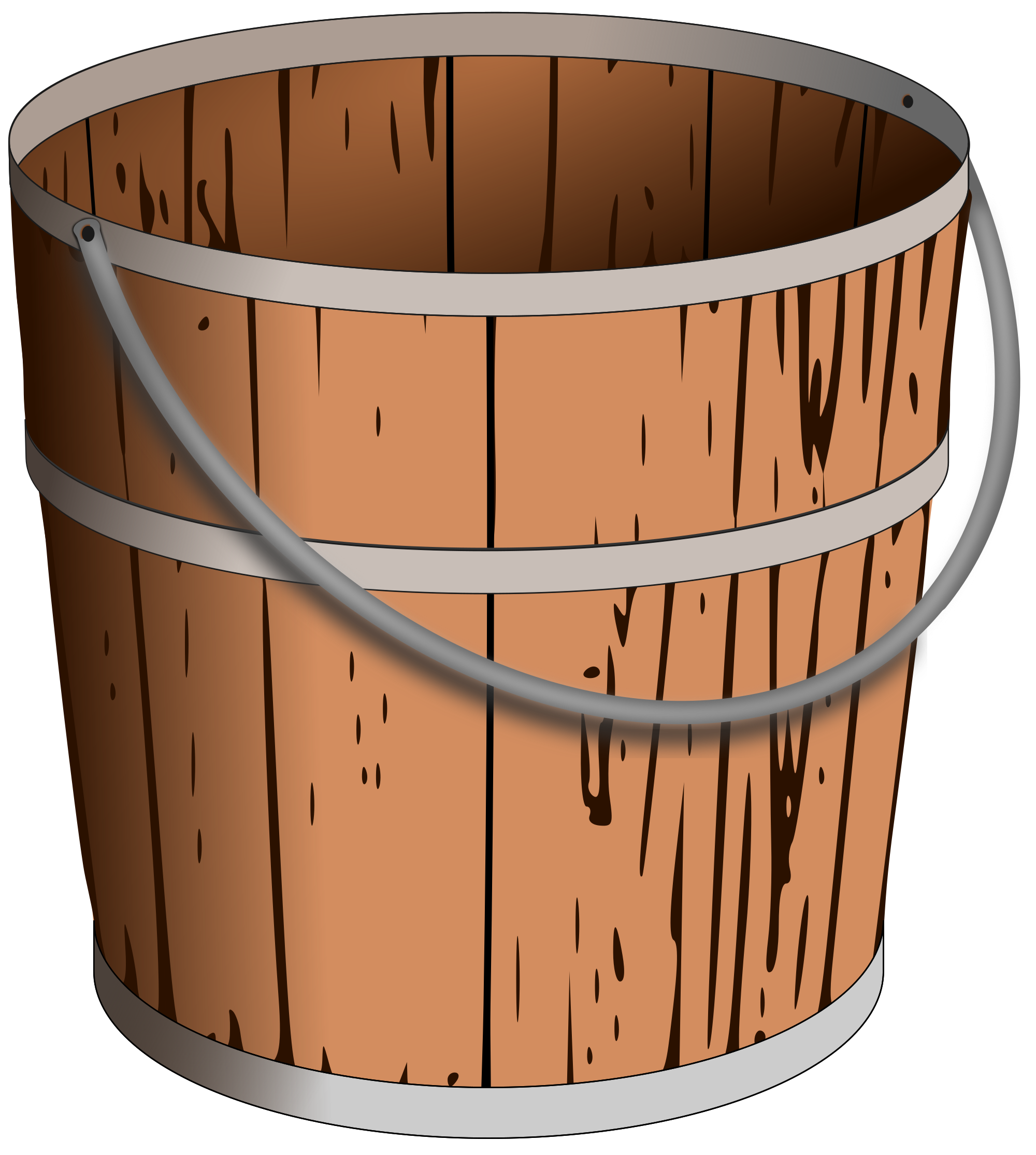 transparent download Bucket clipart svg. File wooden pail wikimedia