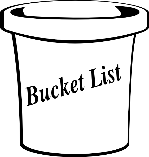 graphic black and white Bucket List Clipart