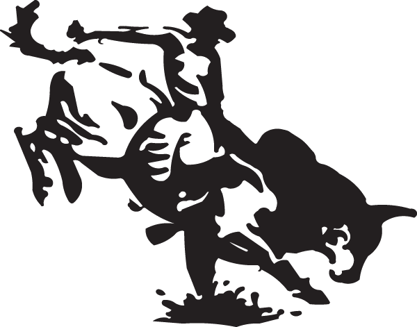 jpg free download Bucking Bull Rider Decal