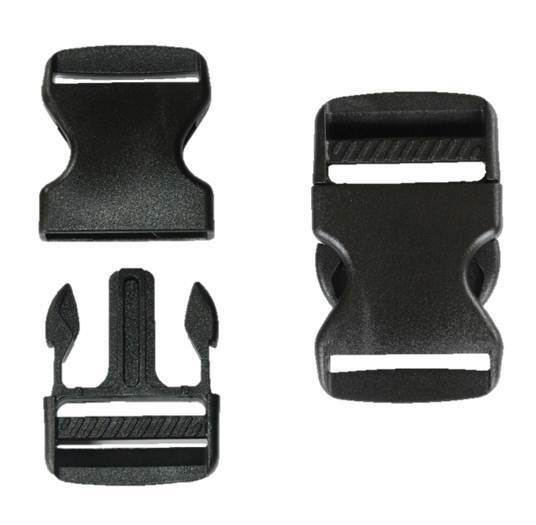 banner freeuse stock Buckle clip. Black mm plastic quick