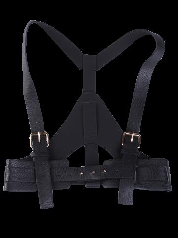 vector free library PU Leather Suspender Waist Belt