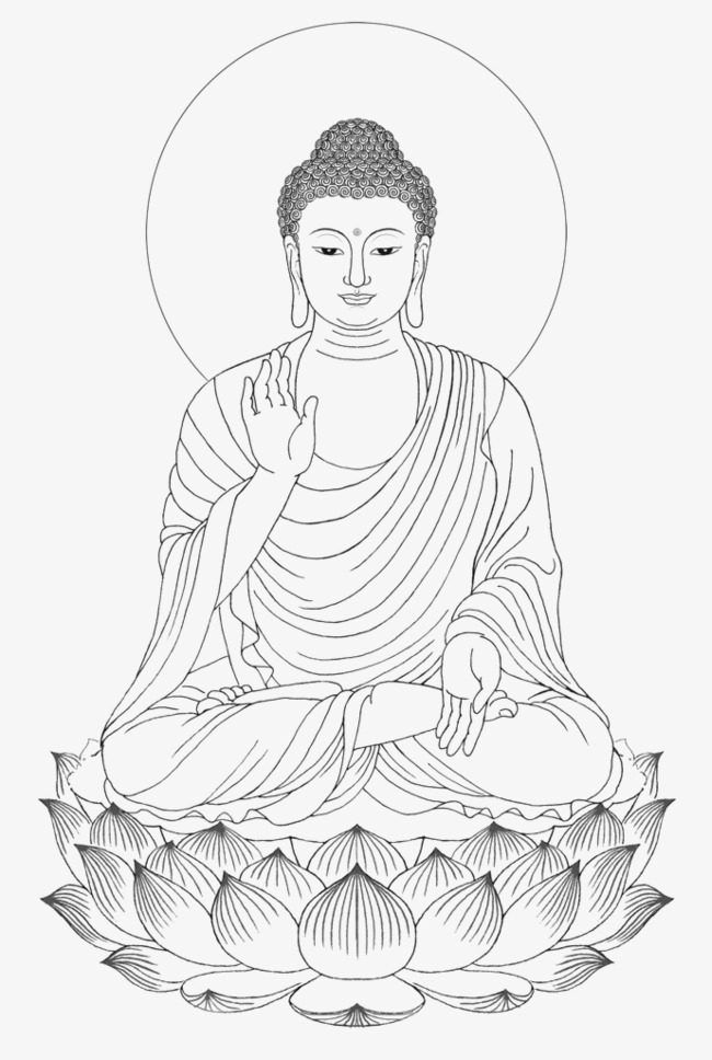black and white stock Lord buddha pencil sketches. Buddah drawing