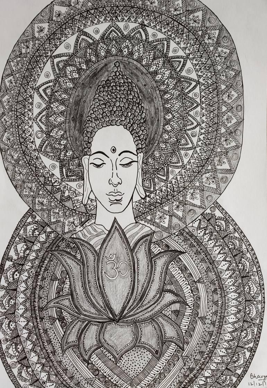 png royalty free download Lord buddha . Buddah drawing