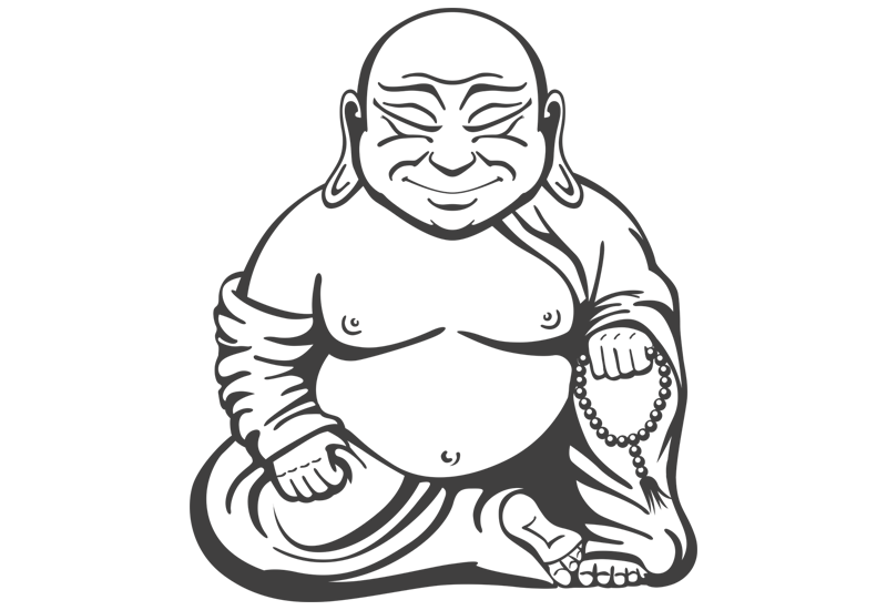vector free download Buddha Easy Drawing at GetDrawings