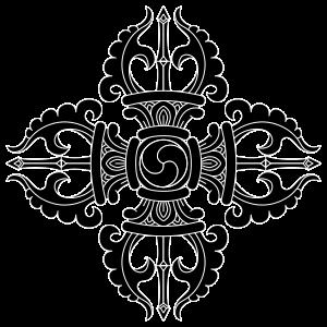 banner library download Tibetan crossed buddhist vajra. Turbocharger drawing tattoo.