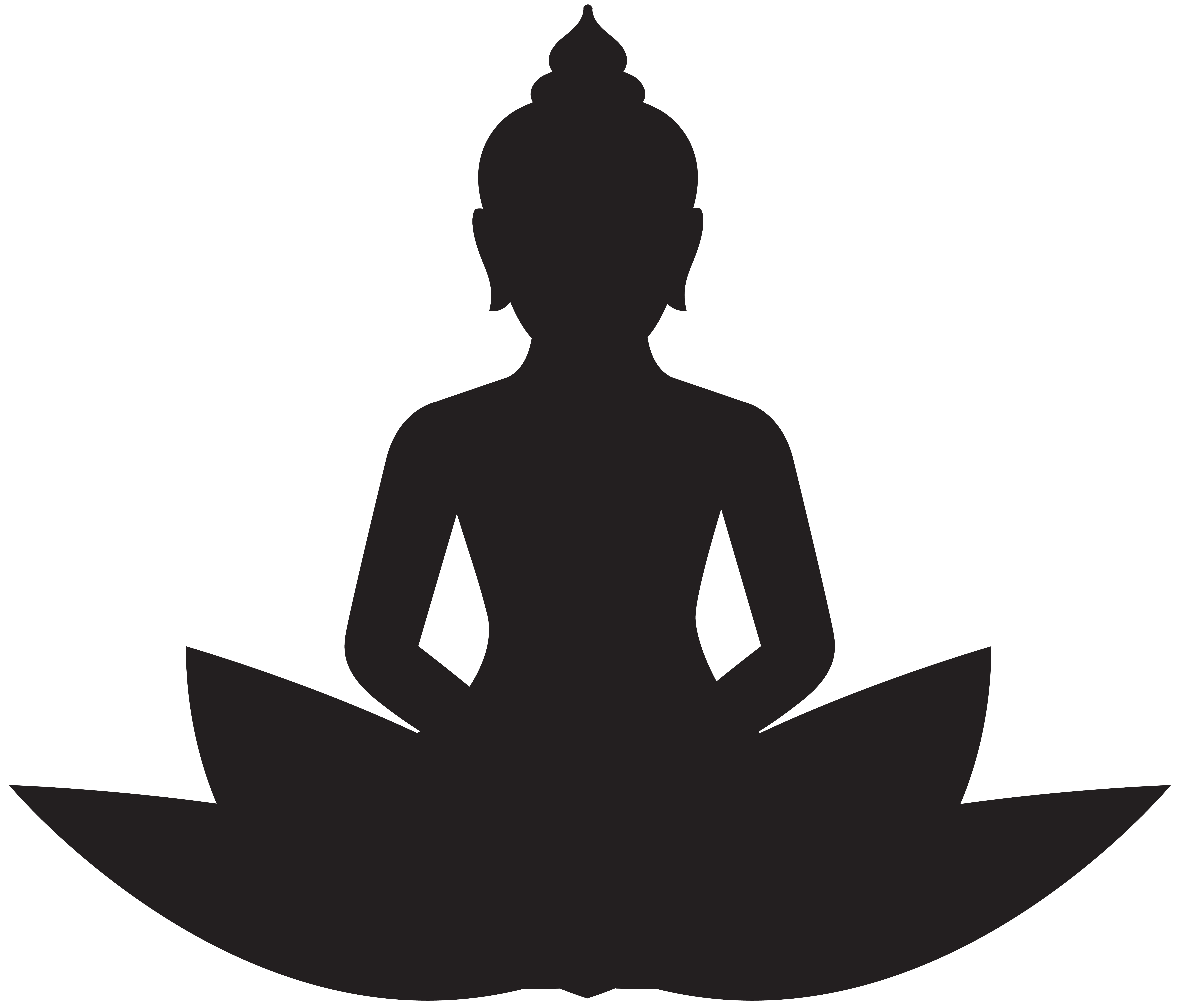 banner transparent stock Meditating silhouette png clip. Buddha clipart.