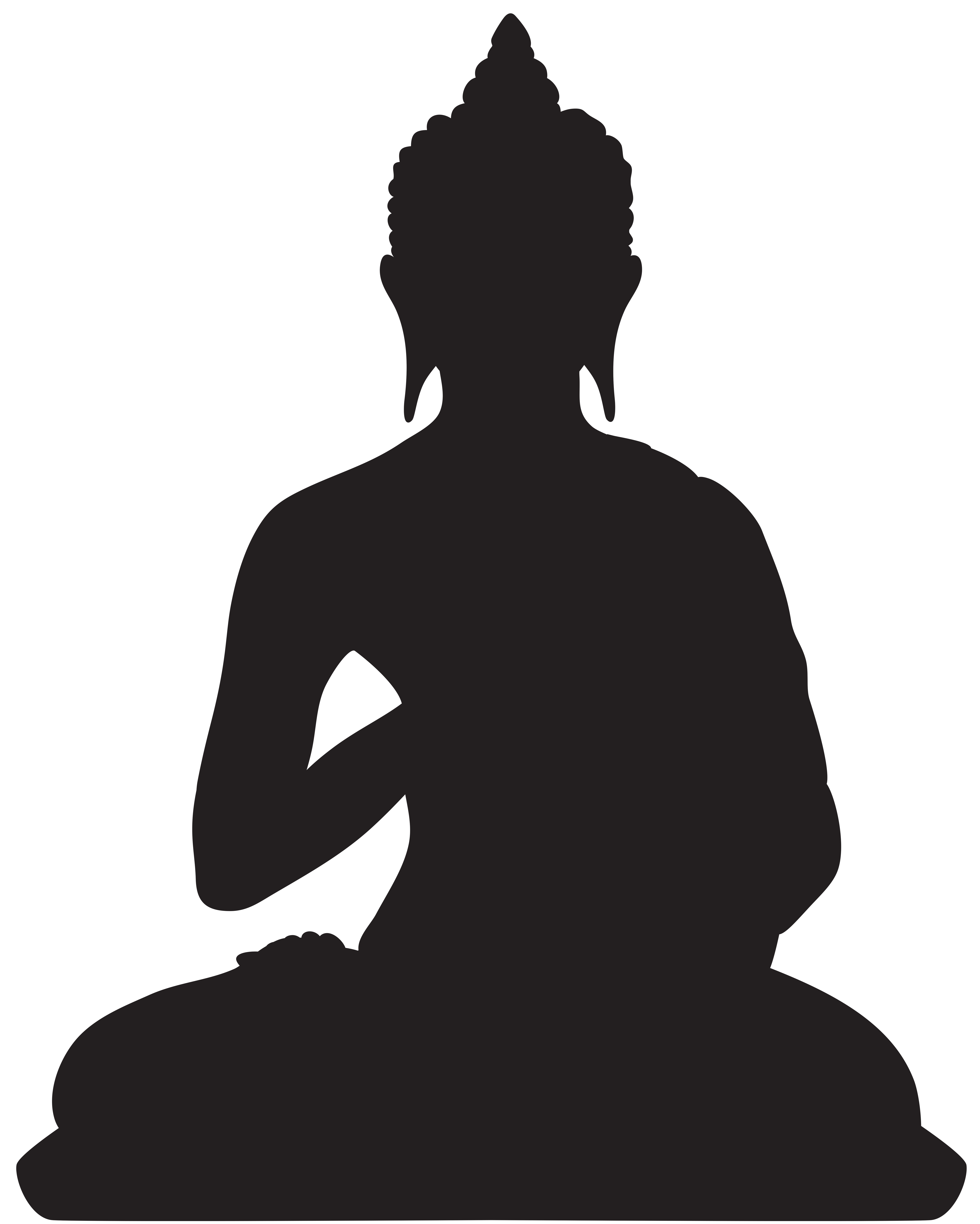 picture library library Buddha png clip art. Boxes clipart silhouette.