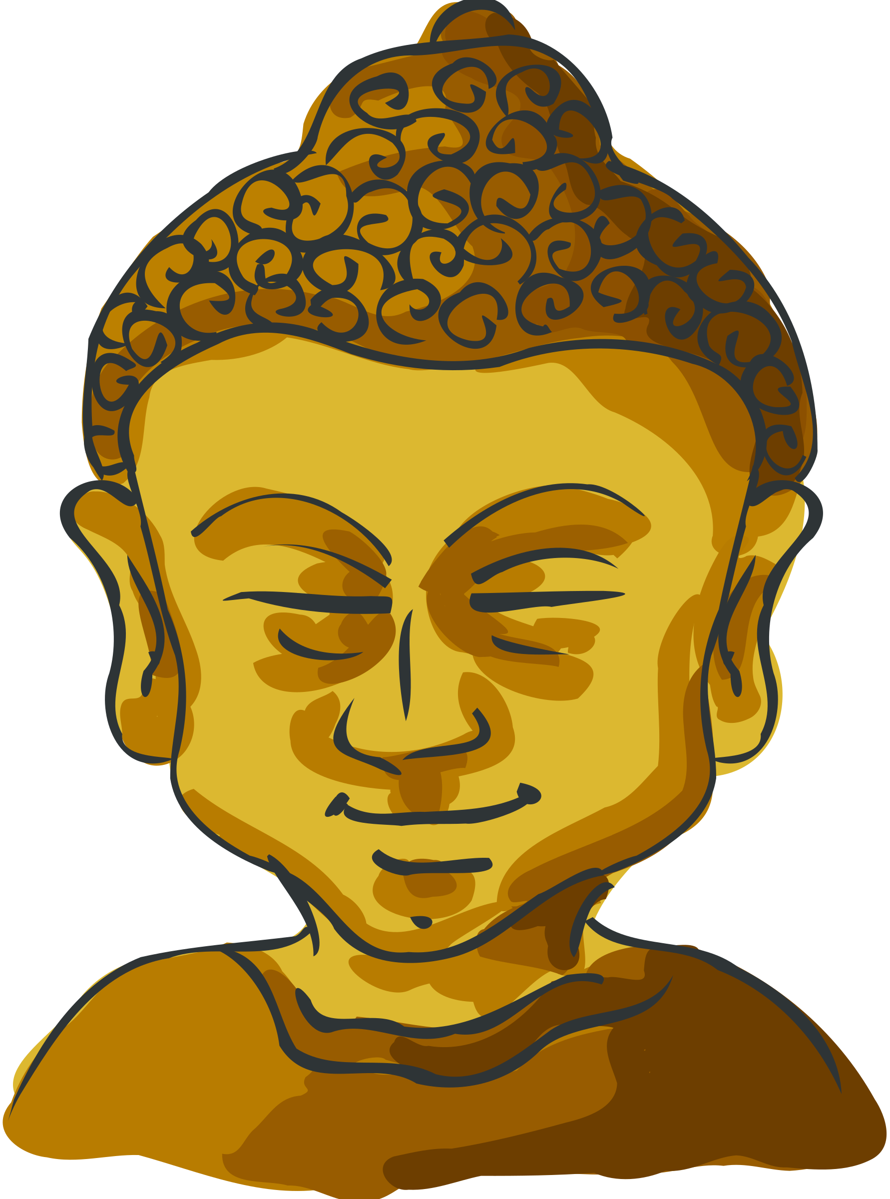 png library Buddha clipart. Head big image png
