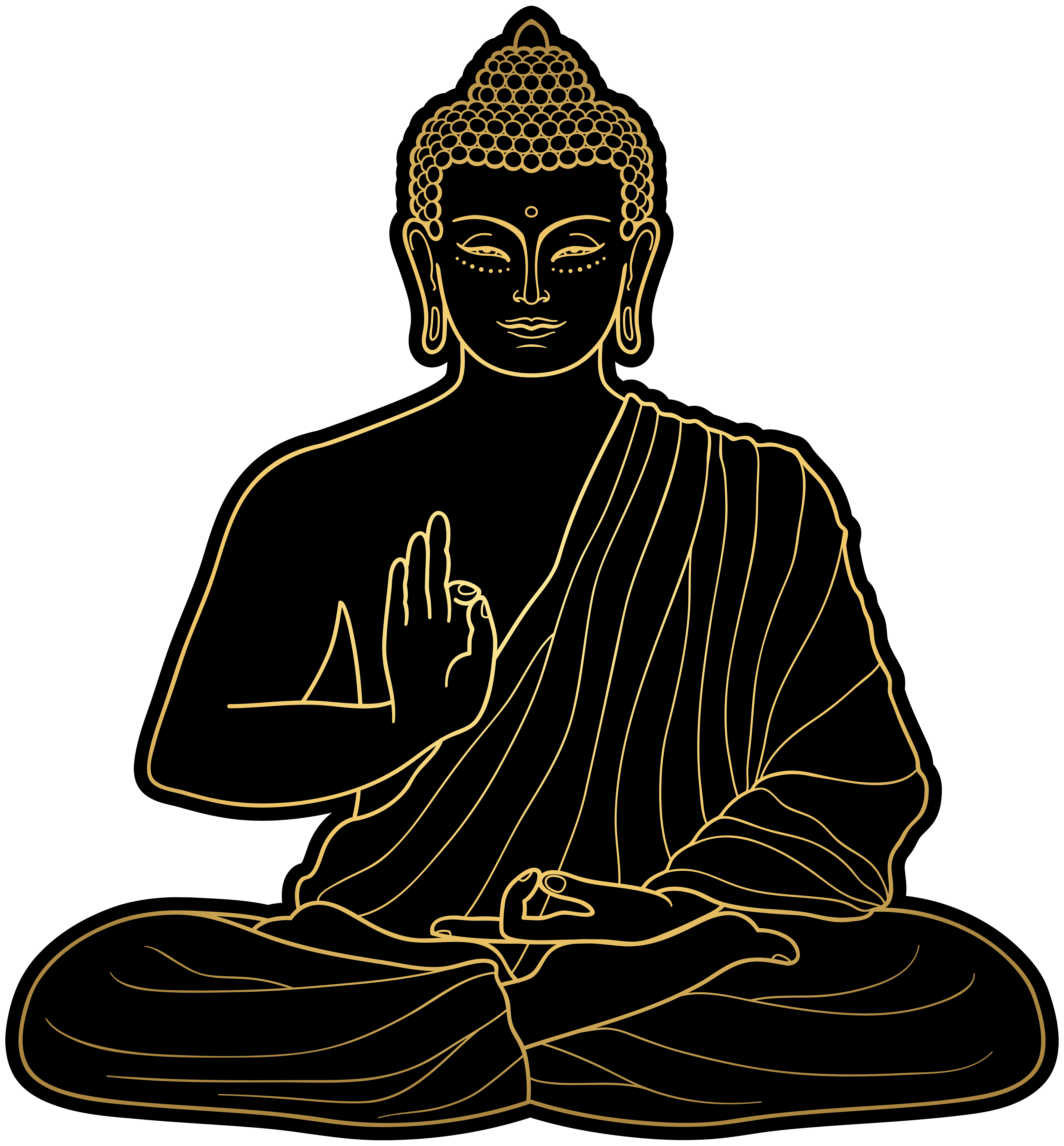 picture black and white stock Buddha clipart character. Png clip art best
