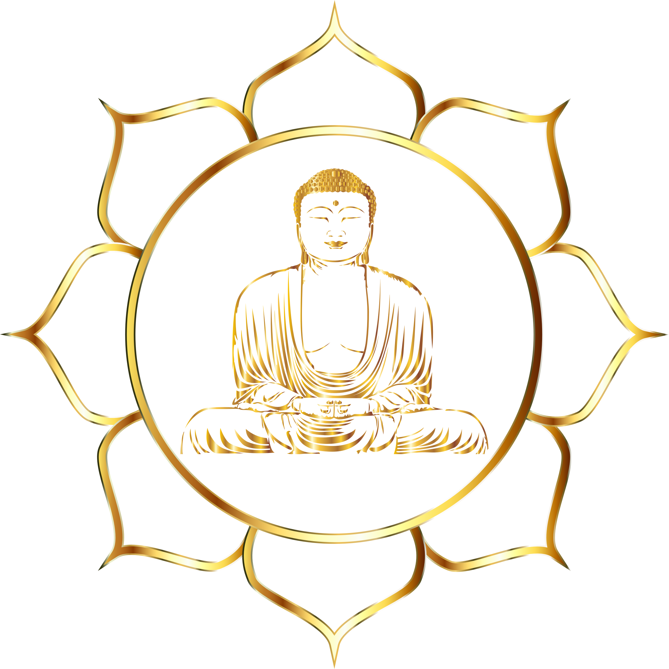 png royalty free Buddha clipart character. Gold lotus no background