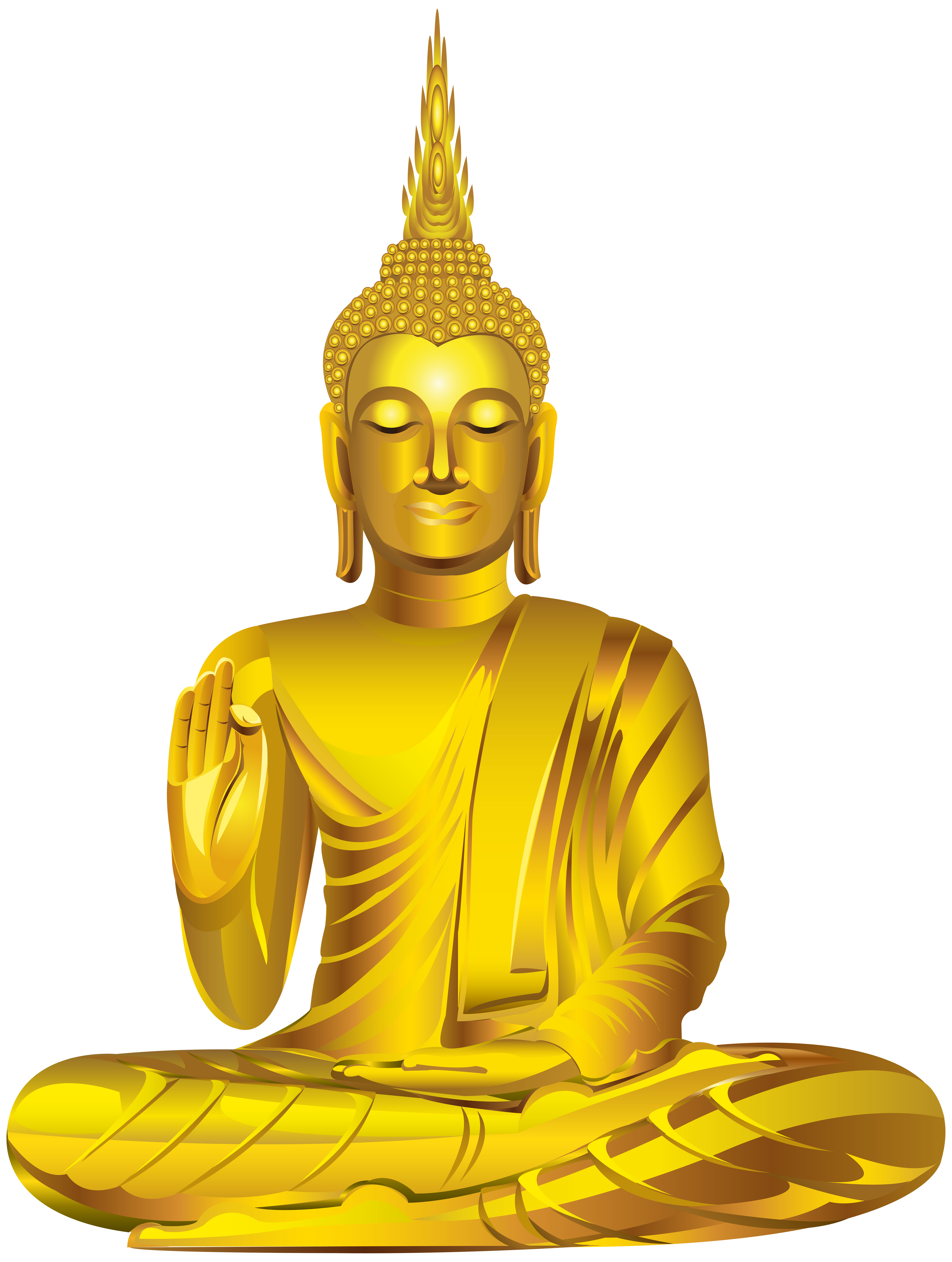 clip art black and white library Gold statue png clip. Buddha clipart character.