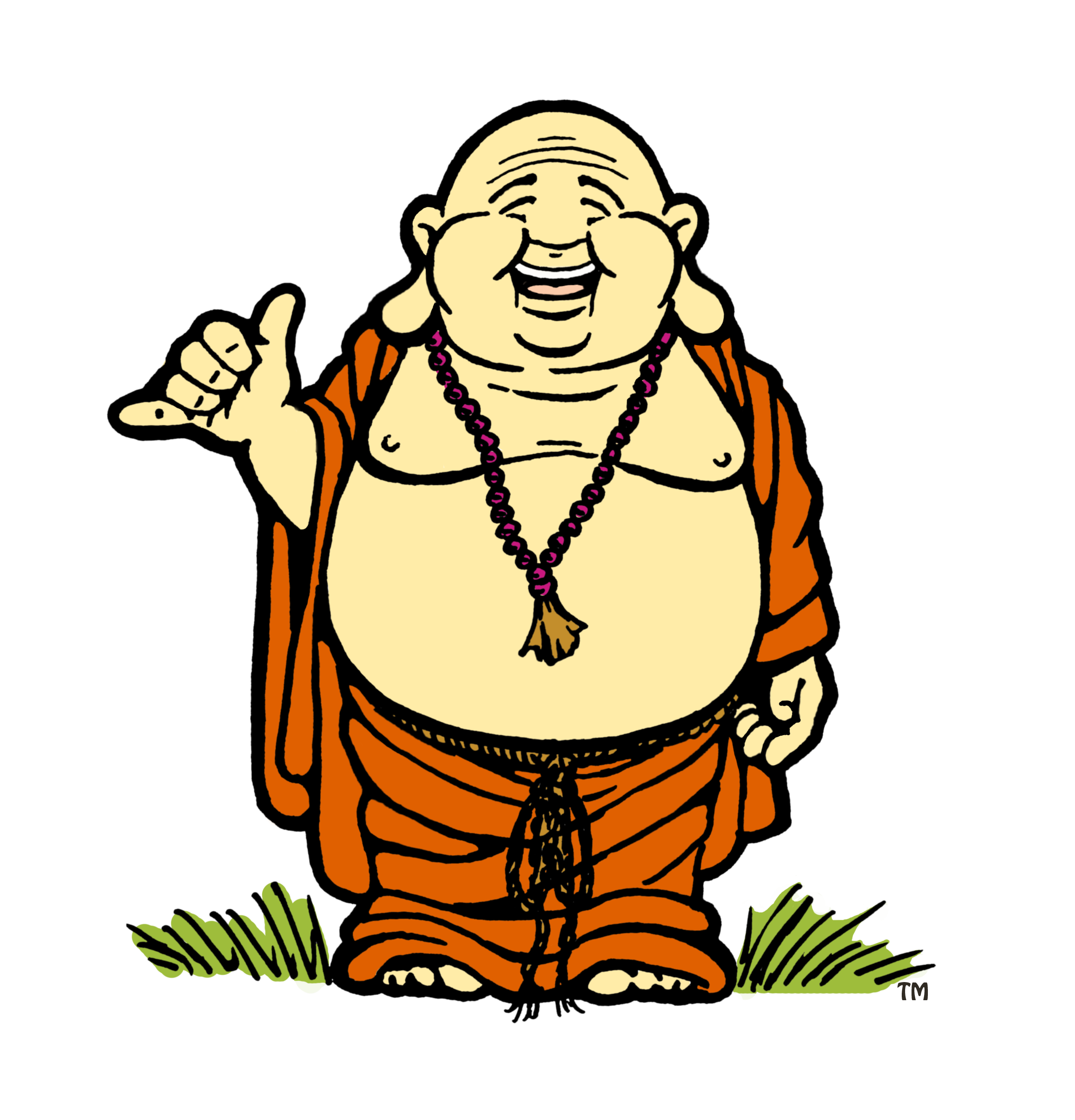 graphic black and white Free cartoon pictures download. Buddha clipart character.