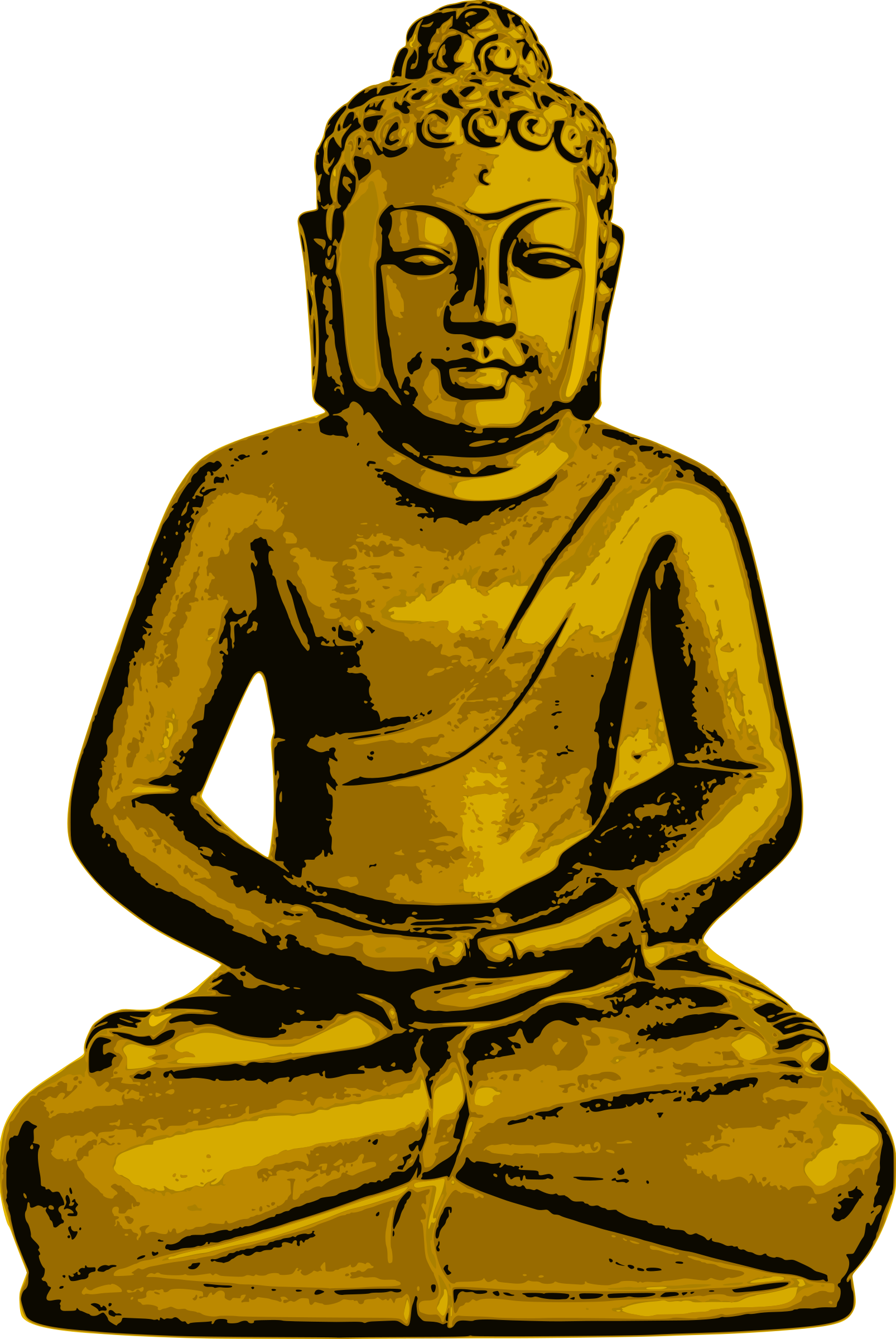 graphic black and white stock Buddha clipart character. Golden big image png