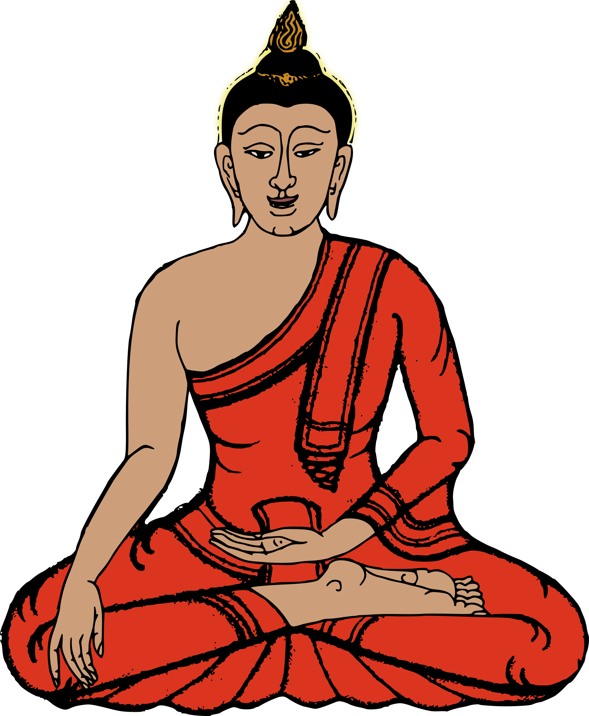 image library library Sitting big image png. Buddha clipart character.