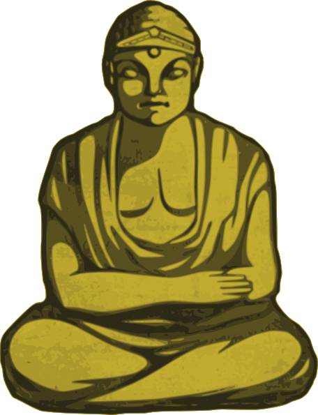 picture free download Golden clip art at. Buddha clipart china drawing.