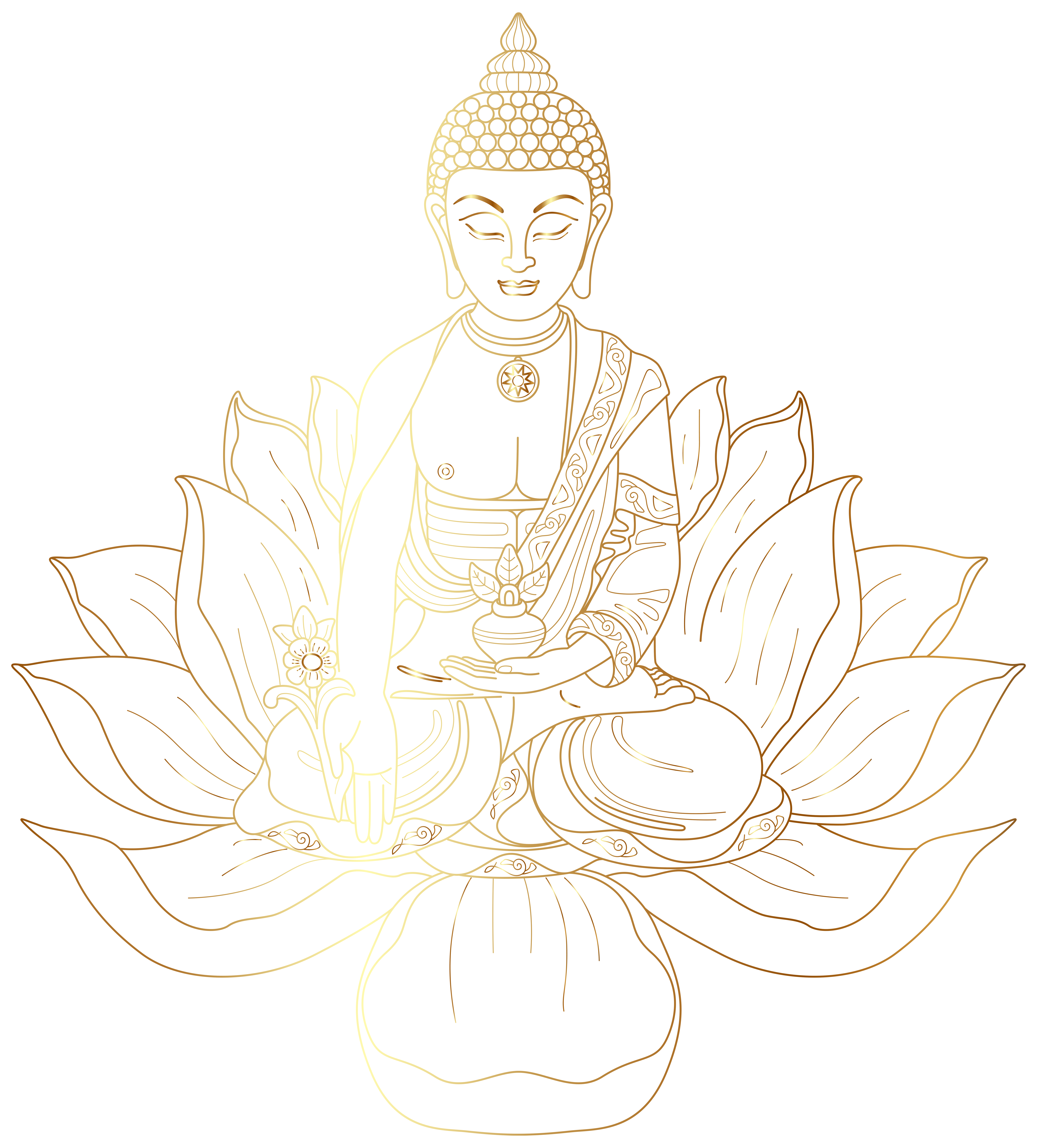 svg stock Buddha clipart china drawing. Decoration png clip art.