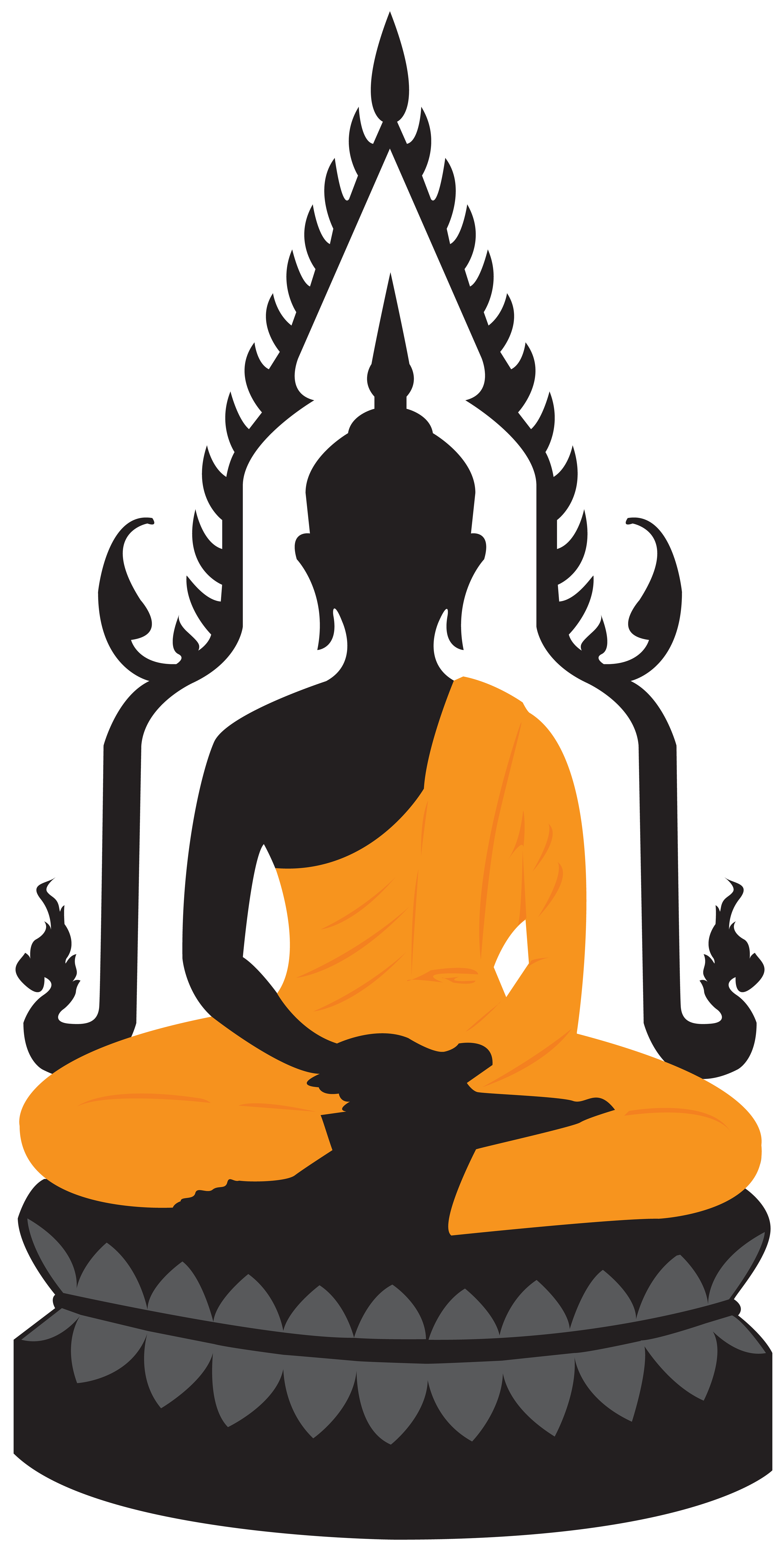 royalty free library Lotus statue png clip. Buddha clipart colour