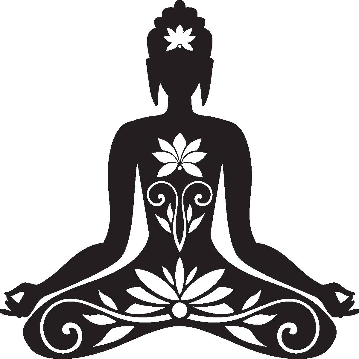 png freeuse library Buddha clipart cutting. Sticker zen bouddha assis