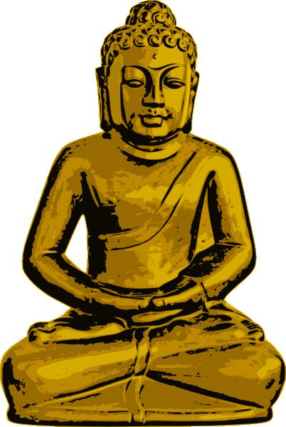 png transparent stock Golden clip art at. Buddha clipart logo.