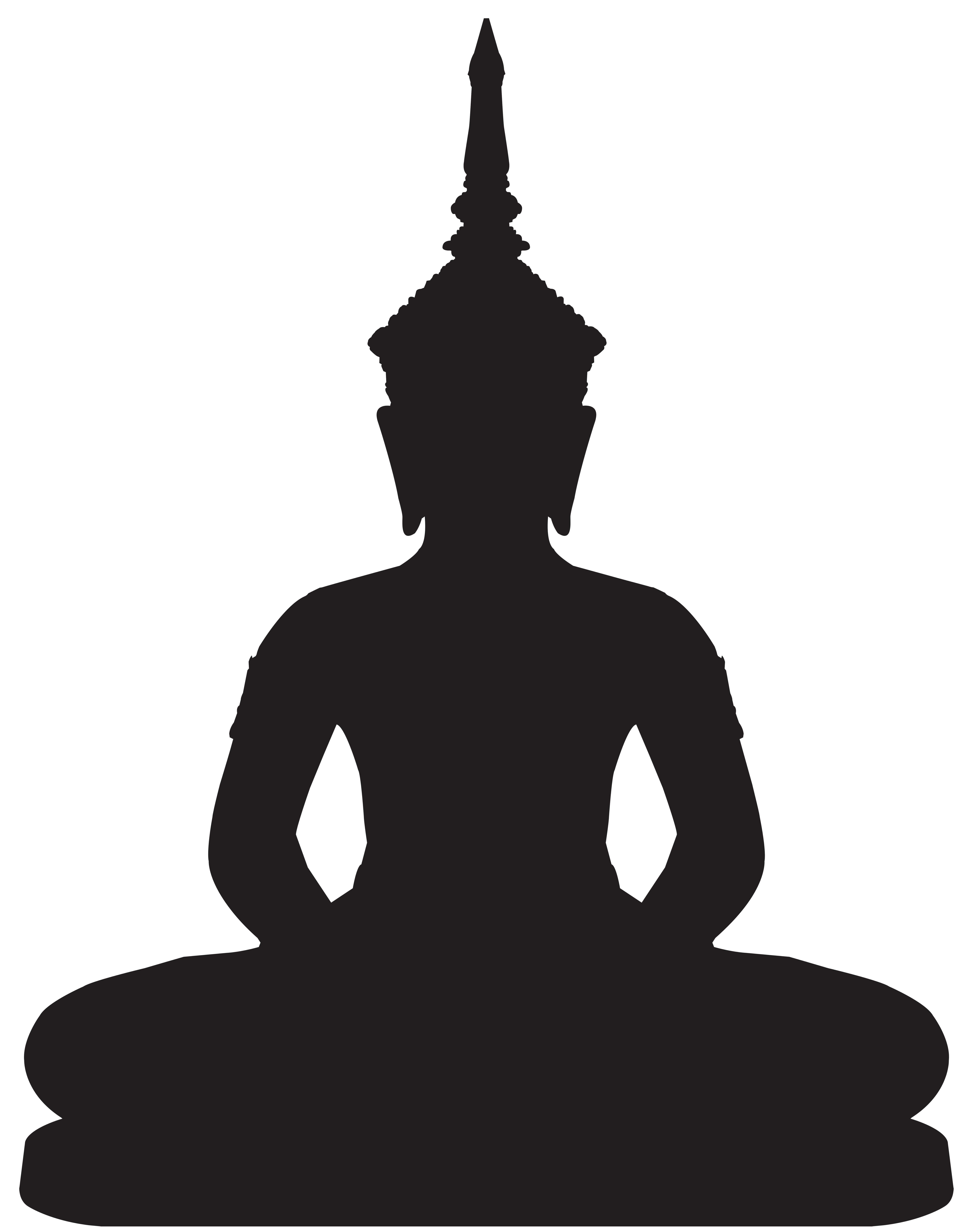 vector library stock Buddha clipart logo. Statue silhouette png clip.