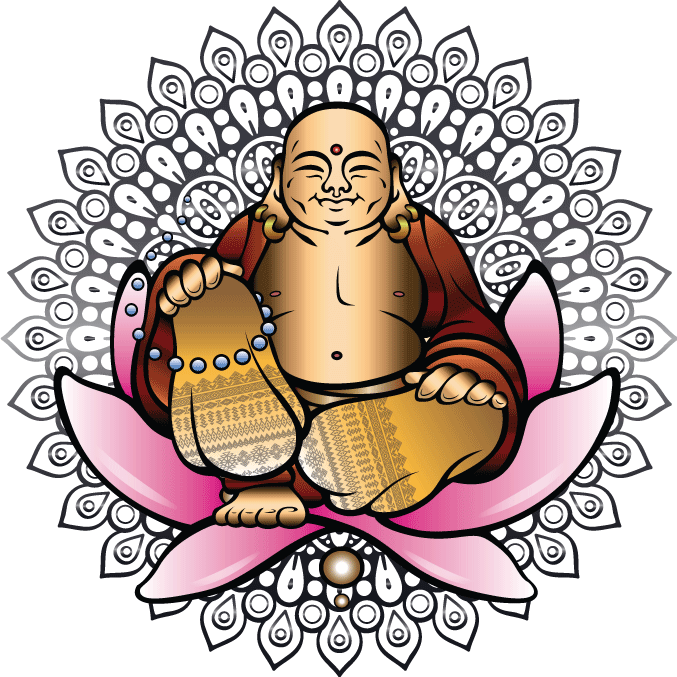 clip transparent library Tattoo session happy . Buddha clipart smiling buddha