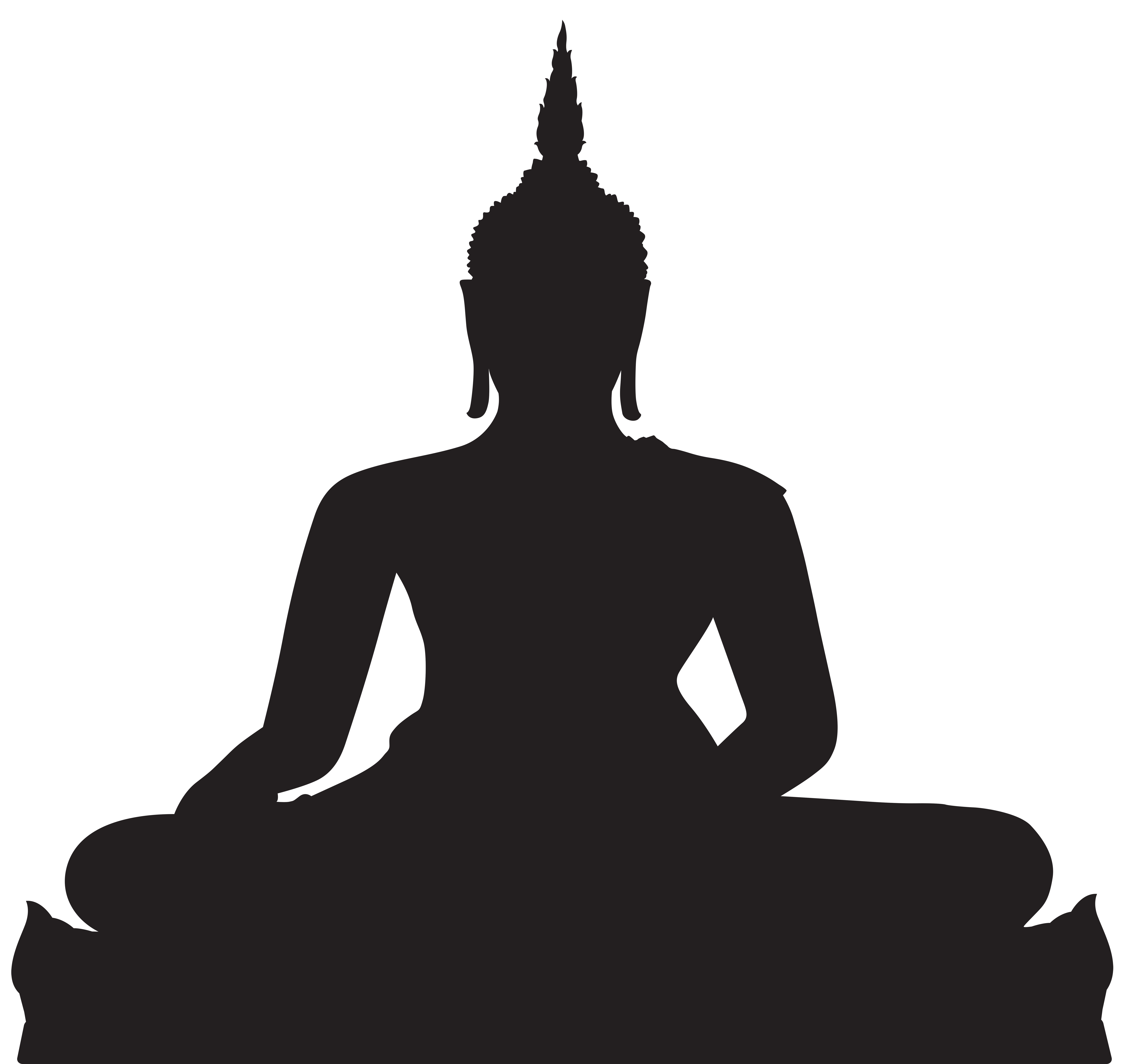 clipart stock Buddha clipart template. Black and white silhouette
