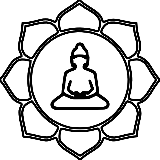 black and white stock Symbol png pinterest. Buddha clipart zen buddhism