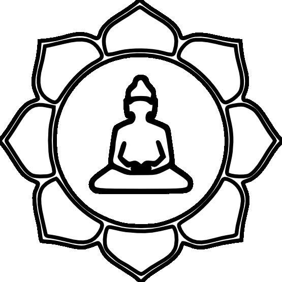 black and white stock Symbol png pinterest. Buddha clipart zen buddhism.