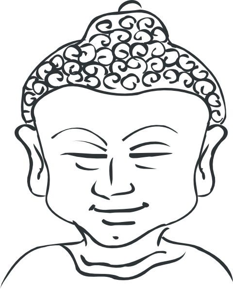 graphic free download Buddha Head Outline Clip Art at Clker