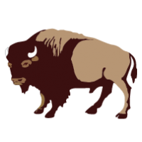 jpg transparent library Buffalo clipart. Clip art black white