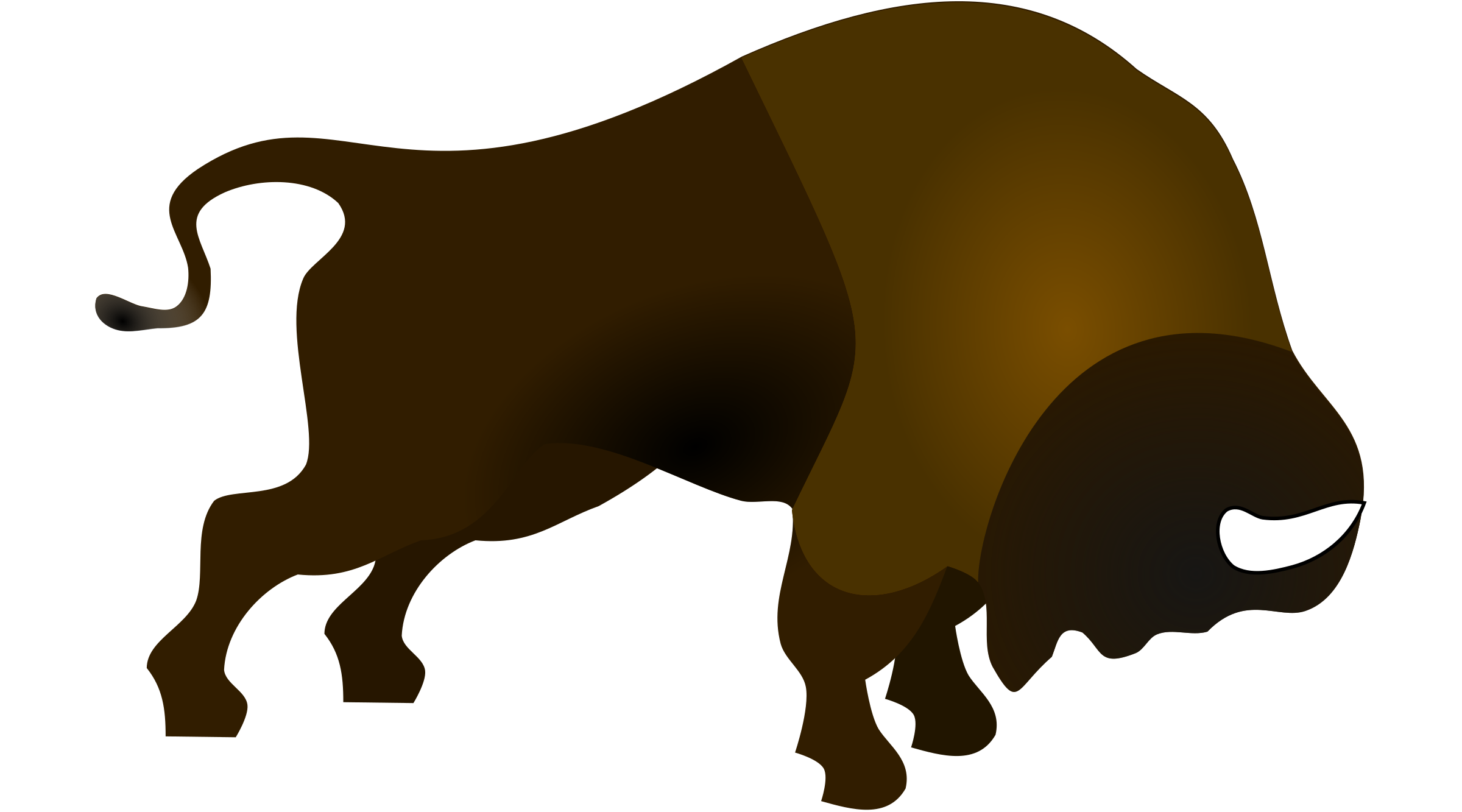 png black and white library Buffalo clipart bison. Bucking in colour big