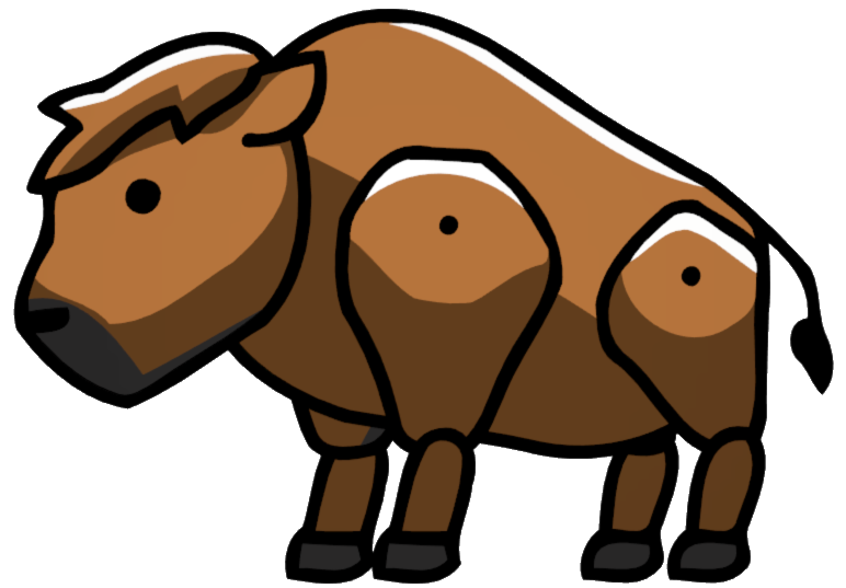 picture royalty free Buffalo clipart buffalo calf. Scribblenauts wiki fandom powered
