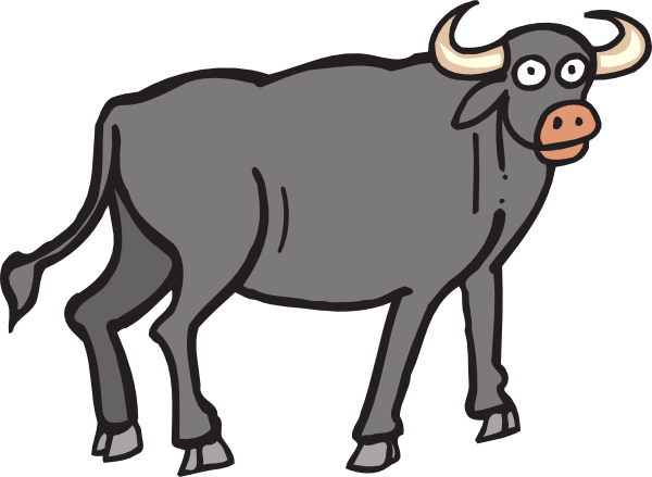 clip art royalty free library Image of picture free. Buffalo clipart buffalo calf.
